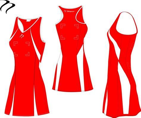 design netball dress bio14 red white netball dress tempestshop com