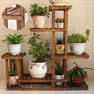 wooden plant stand ebay