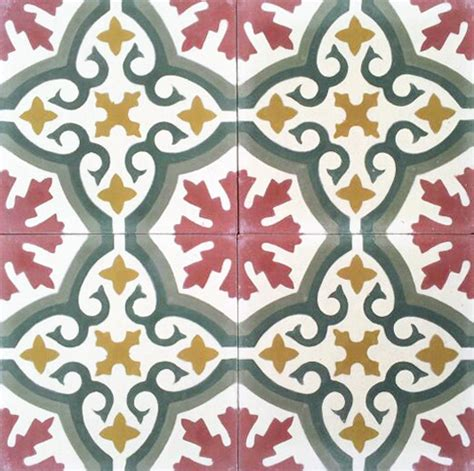 fliese floral handmade cement encaustic tiles floral design