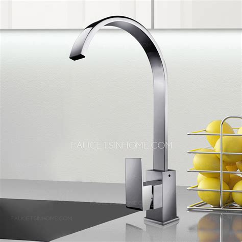 High End Kitchen Faucets High End Waterfall Single Handle Gooseneck Kitchen Faucets