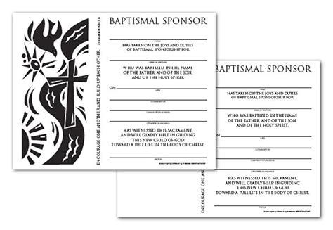 Sponsor Letter Baptism Certificate Sponsor Baptismal