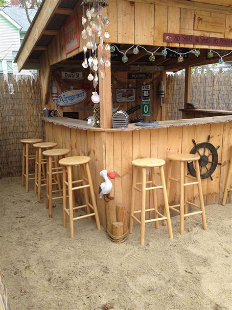 backyard beach bar we built our own beach bar shawn s sand bar and grill