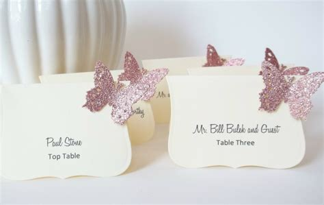 diy place cards template butterfly amazing ideas for a fabulous butterfly wedding