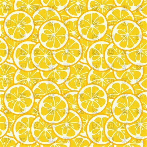 yellow pattern clipart cute seamless pattern with yellow lemon slices royalty