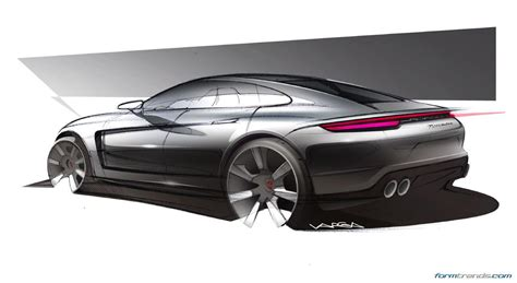 porsche concept sketch porsche designers on the 2016 panamera
