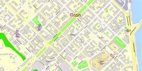 printable area in coreldraw printable cdr map kiev metro area ukraine exact vector