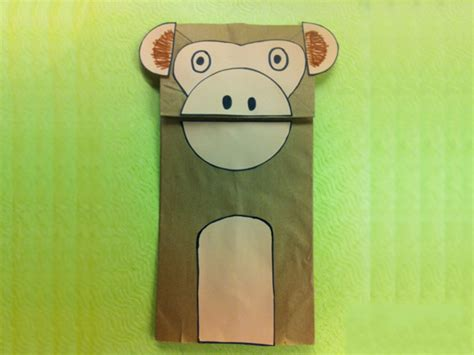 paper bag monkey craft new year 2016 year of the monkey crafts for