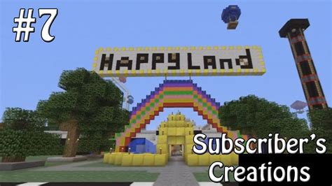 theme park names minecraft subscriber s creations 7 theme park minecraft xbox