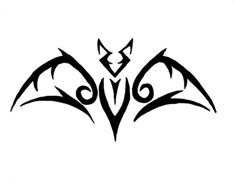 bat tribal tattoo concept bat