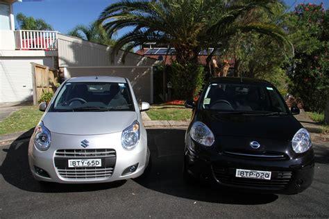 Suzuki Alto Vs Nissan Micra Suzuki Alto V Nissan Micra Light Car Comparison Photos
