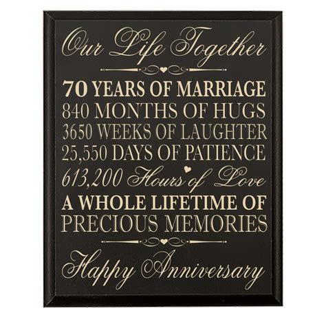 Amazon Anniversary Gift Card - 44 off 70th wedding anniversary wall plaque gifts for