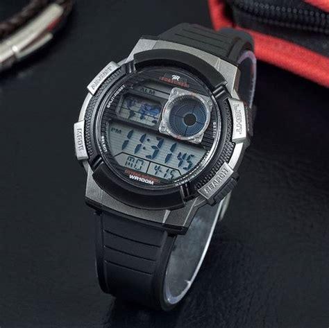Jam Tangan Cowok Pria Lasebo Original Rubber Black List Orange 1 jual beli jam tangan pria cowok fortuner fr1000 original rubber black 20170505 baru jam tangan