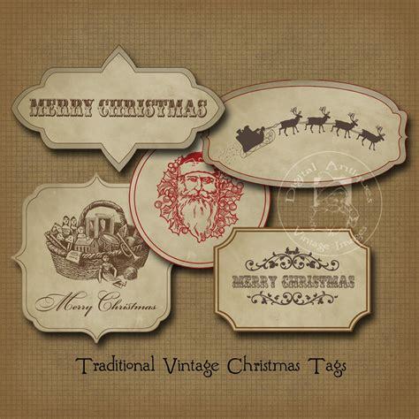 printable vintage gift tags christmas vintage christmas gift tags sepia printable digital download