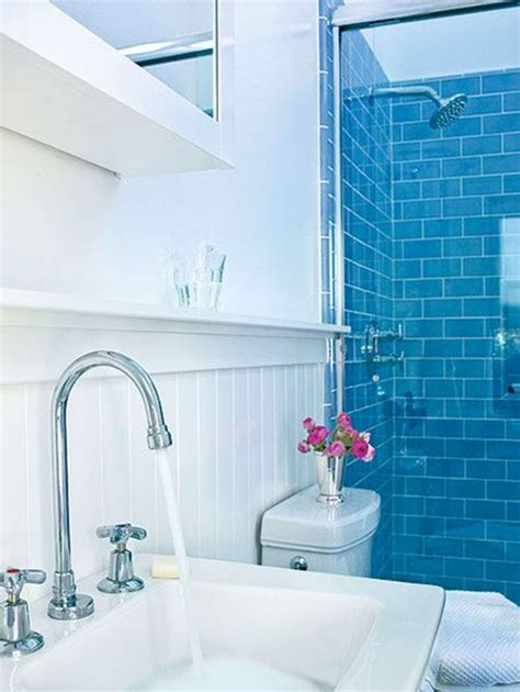 Blue Bathroom Tile Ideas | 40 blue bathroom wall tile ideas and pictures