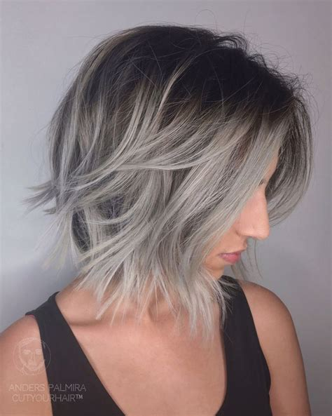 shagy short with silver highlights haistyles the 25 best grey ombre hair ideas on pinterest black