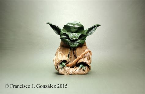 Master Yoda Origami - wars origami episode ii clones droids yoda and more