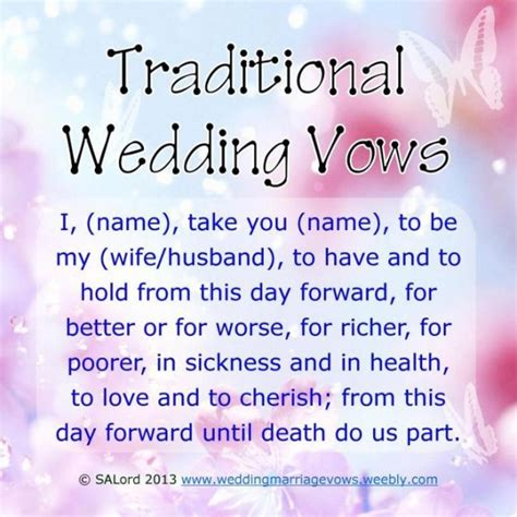 20 traditional wedding vows exle ideas you ll