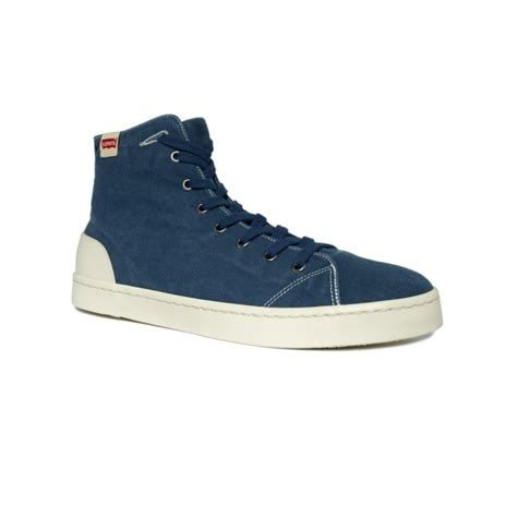 levi sneakers levi s hazel button mid sneakers in blue for