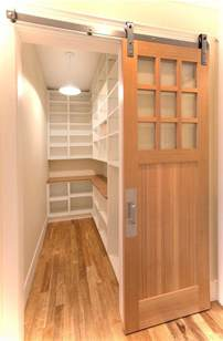 amazing door treatment for walk in pantry this