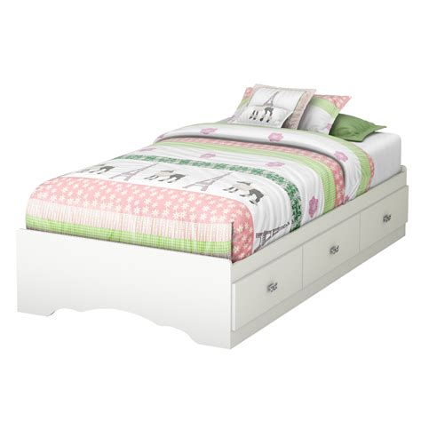 twin kids bed south shore tiara twin platform customizable bedroom set