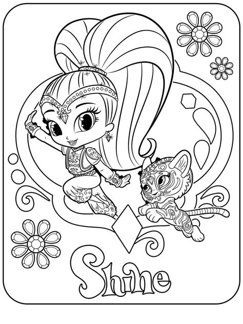 coloring page shimmer and shine coloring pages best coloring pages for