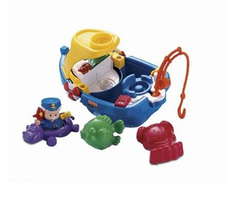 fisher price bath toy boat little people floaty boat bath time adventure toy