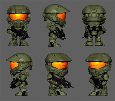 Master Chief Turns Into Mimobot by Cad Designer Transforms Halo Chief Into Bobble Heads Wired