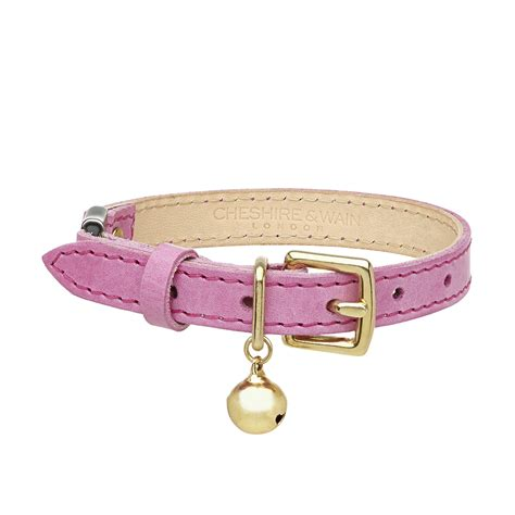 pink luxury luxury pink leather cat collar chelsea cats