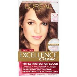 light chestnut brown hair color l oreal excellence non drip creme protection