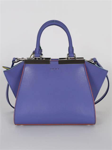 Fendi Pastel Zucchino Mini Shopper Handbag by Fendi 3jours Mini Leather Shopper Bag Purple Luxury Bags