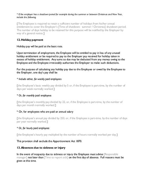 Contract Letter For New Employee contract of employment