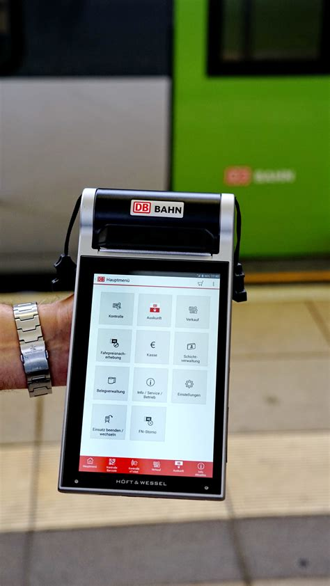 mobile terminal wie ein modernes tablet den reisenden mehr service bietet