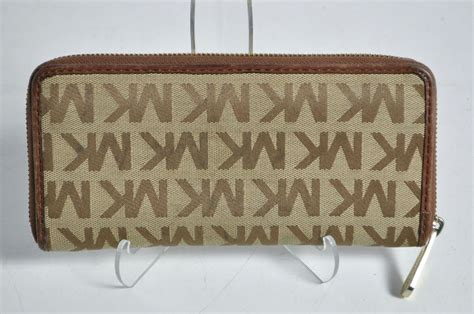 Mw23 Pattern Design Wallet Brown michael kors brown signature pattern zipper clutch wallet ebay