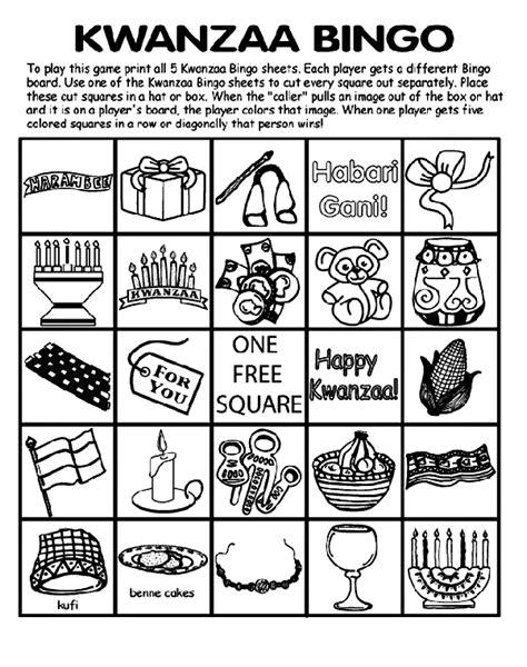coloring pages of kwanzaa symbols kwanzaa bingo board no 2 crayola ca