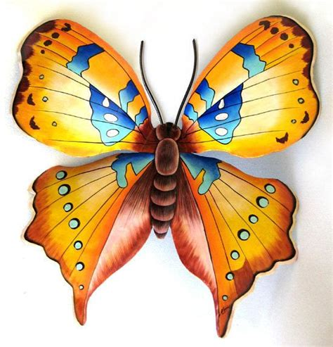 garden metal wall butterfly butterfly metal wall decor large gold 34 quot painted