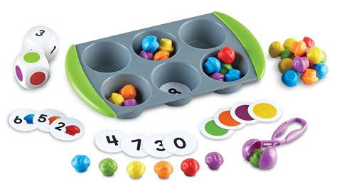 Squeezy Tweezer Learning Resources Sensory Play learning resources mini muffin match up curious