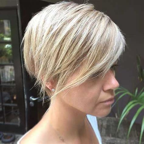 latest short blonde hairstyles  women   short