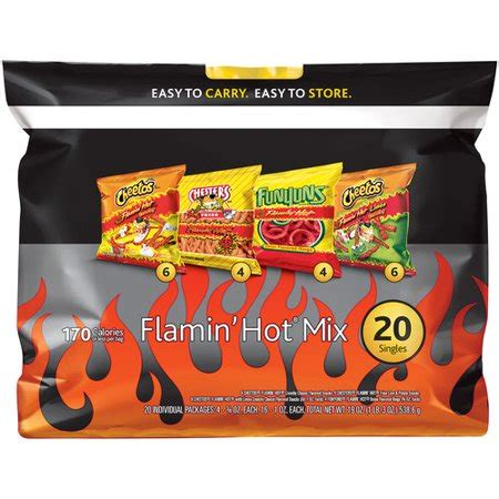 hot funyuns bulk frito lay flamin hot chip mix variety pack 20 count