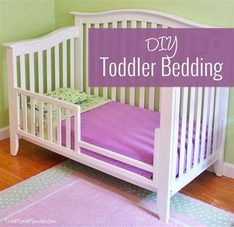 Diy Crib Bedding Diy Toddler Bedding Two More Minutes
