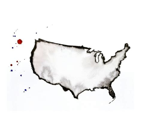 watercolor tattoos usa watercolor map of usa image united states map of by
