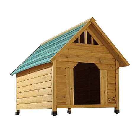 3 dog dog house pet squeak 2 7 ft l x 2 1 3 ft w x 2 5 ft h alpine lodge medium dog house 0007m the home depot