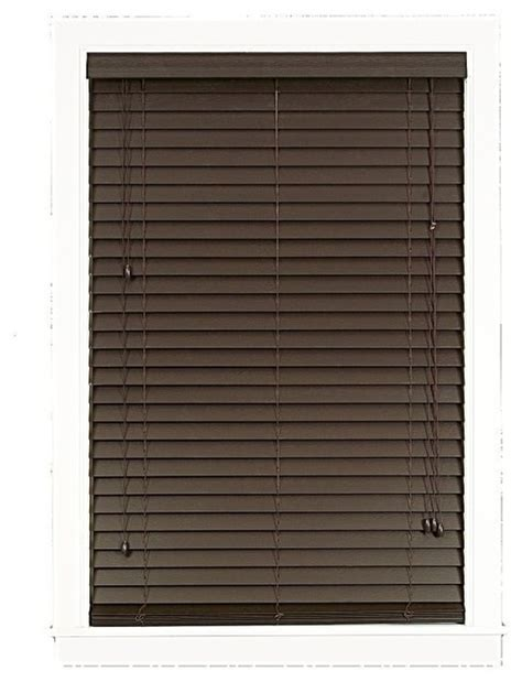 2 Inch Faux Wood Blinds Madera Falsa 2 Inch Faux Wood Blind Traditional