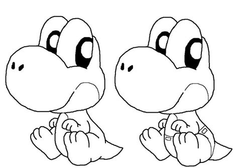 coloring pages for yoshi baby yoshi coloring pages coloring home