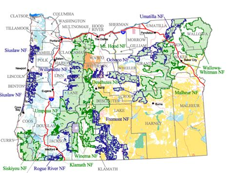 Find Oregon Oregon Forest Map Afputra