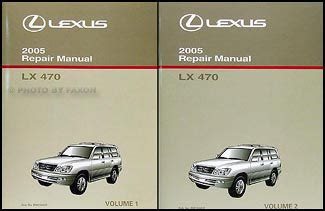 auto repair manual free download 2005 lexus lx security system 2005 lexus lx 470 shop manual set original oem lx470 repair service books ebay