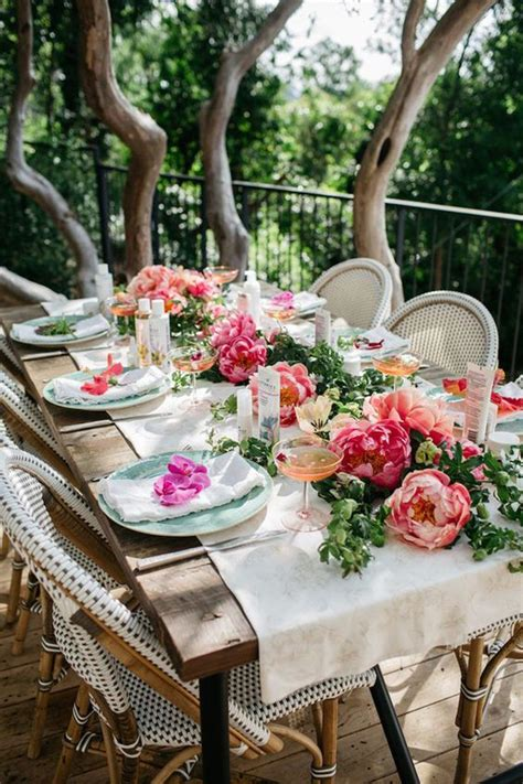 Garden Table Setting Ideas 20 Rustic Table Setting Ideas To Summer Celebrate House