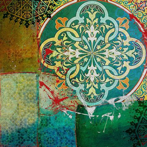 islamic pattern canvas desertrose arabic motif painting رسم بالحروف