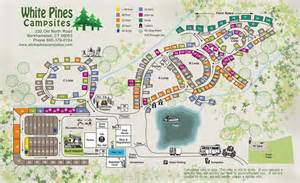 cgrounds map cground map white pines csites