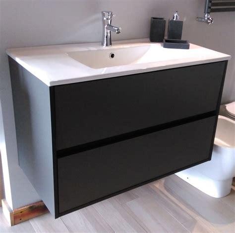 bagno colore mobile bagno sospeso con gola colore antracite opaco