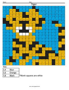tiger advanced multiplication coloring squared